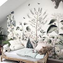 Fleurs en guise de décors muraux